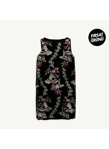Yargıcı Kadın Kayik Yaka Elbise 9KKEL7105A341 Siyah